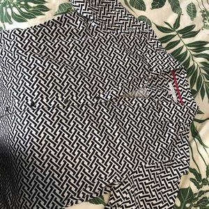 Women's Black & White Button Down Shirt